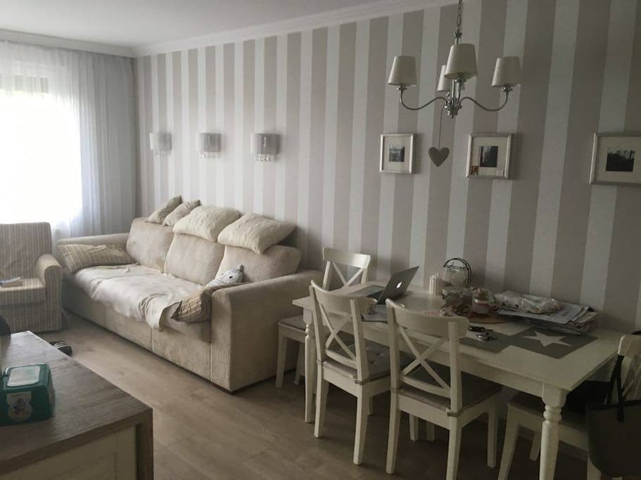 Elegant design sunny apartment flats for rent in for Designer apartment krakow
