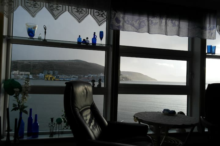 Utsikt mot havnebassenget.