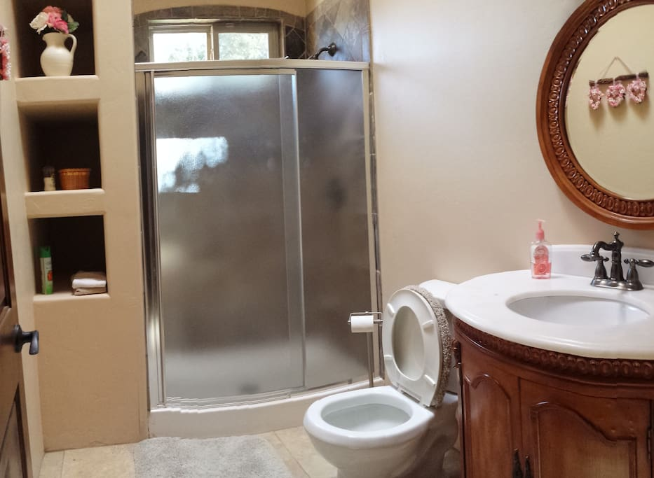 Private bathroom w/shower