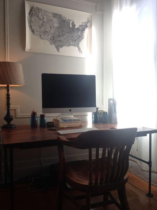 Living room desk