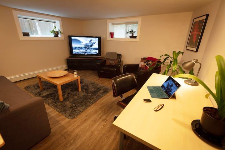 Private & secure 1 bdrm suite, amazing location