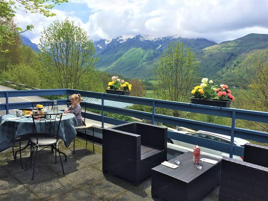 Terrasse solarium avec vue