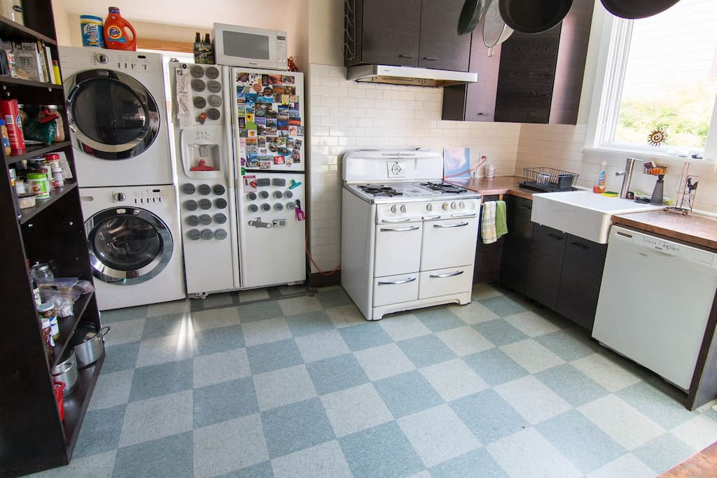 You have full use of the washer and dryer, along with the rest of the kitchen.