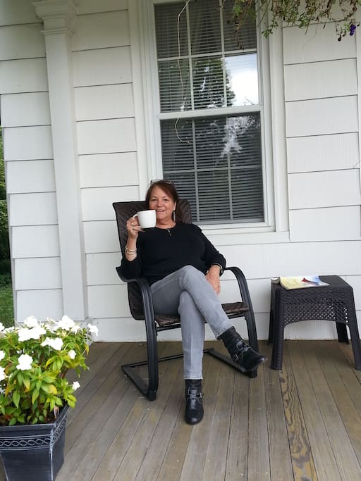 Relax on front porch.