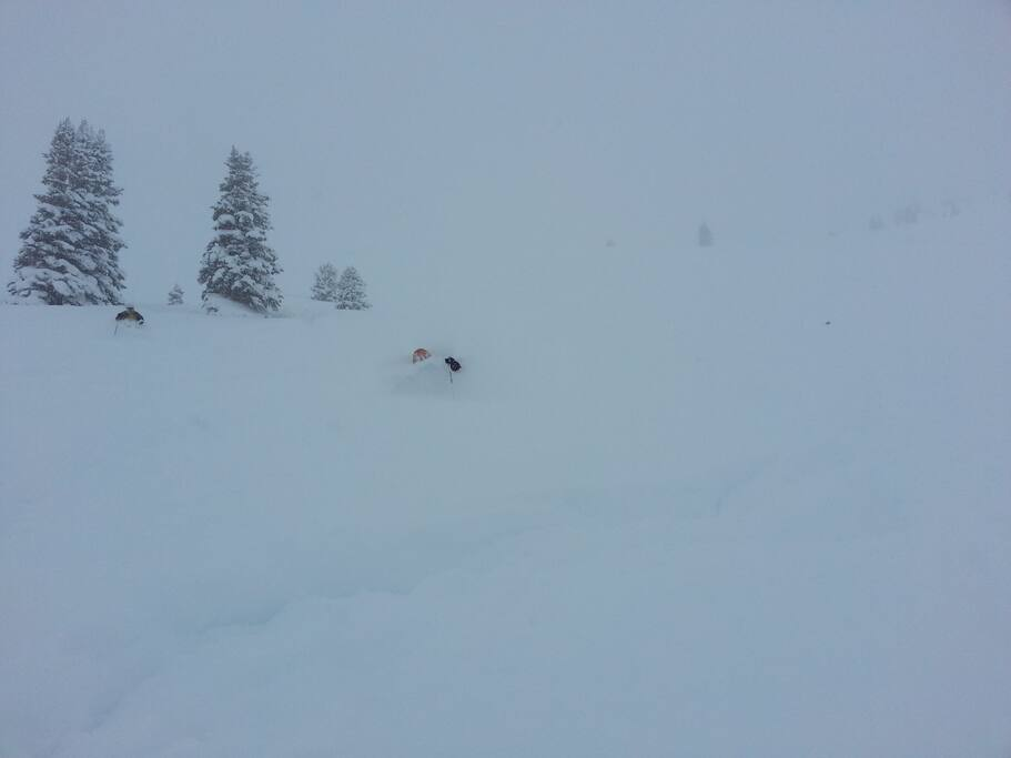 Powder Day in Vail's Back Bowls, it's sooo deep!!