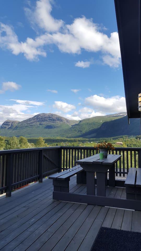 utsikten fra egen terrasse