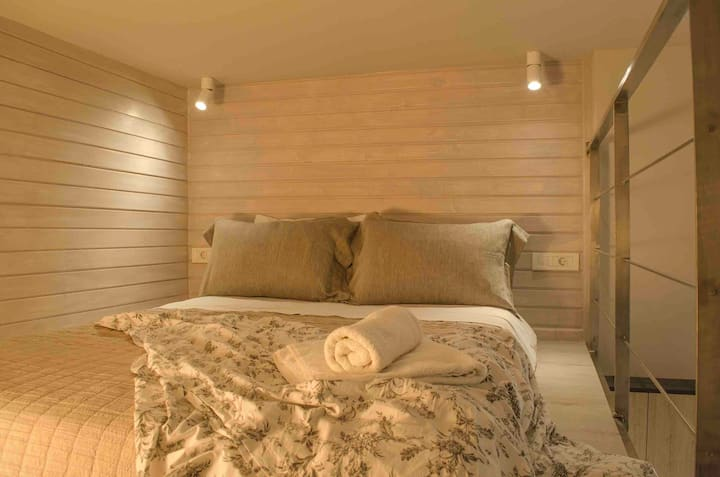 New Chania renovated studio with loft & balcony 6