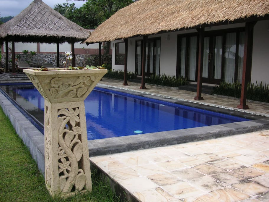 Private pool at Matahari Villa