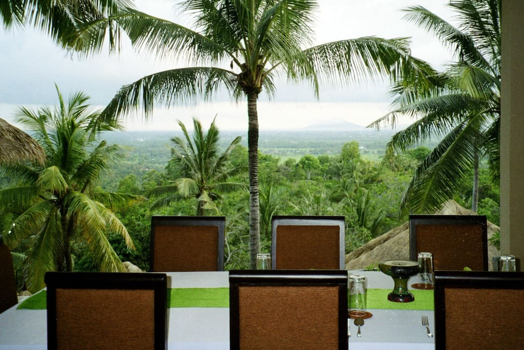 Open Air dining with an amazing view in Villa Kopi