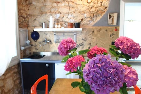 Romantic flat with private garden - Piovene Rocchette - Huis