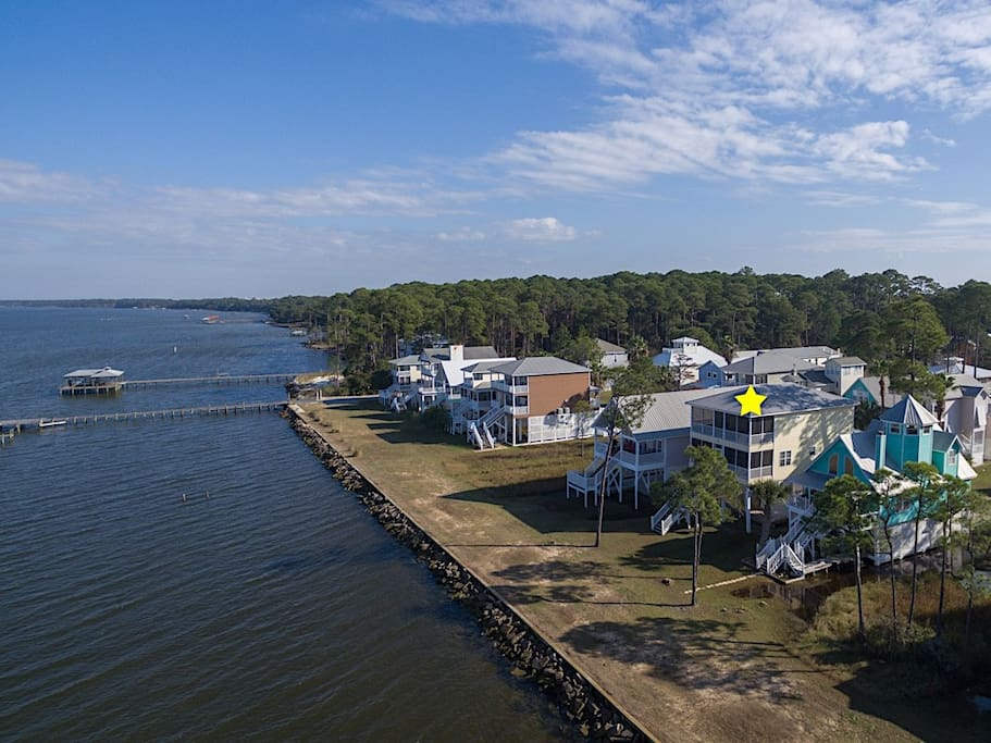 Located right on Mobile Bay