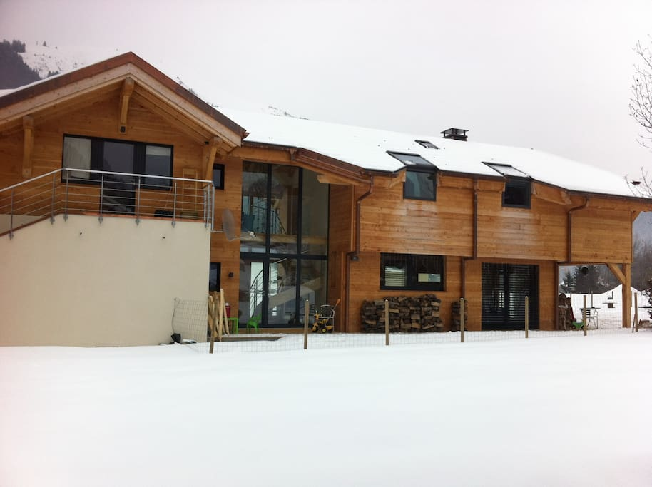 South facing View of the chalet.