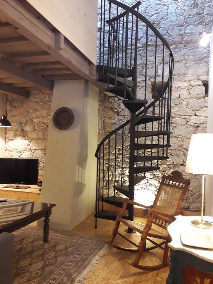 Alojamiento con decoración y objetos vintage