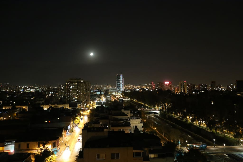 Night View form apartment balcony (17th floor)