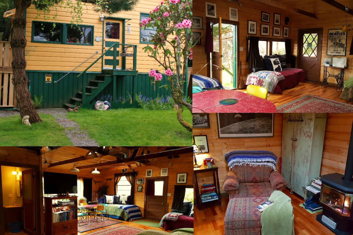 Cozy, secluded, private, roomy, comfy. The feel of a being in a cabin right in the city!
