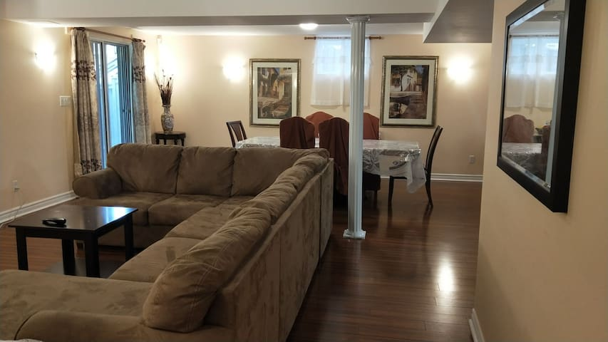 Spacious and brightsome walkout basement apartment