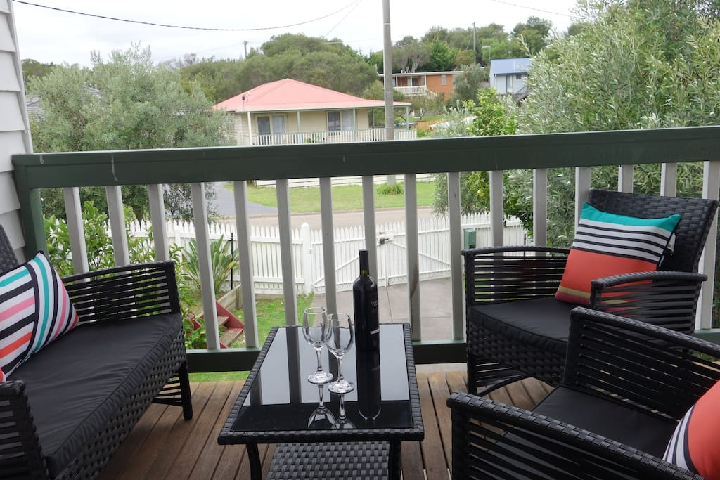 enjoy an afternoon glass of wine on the decking