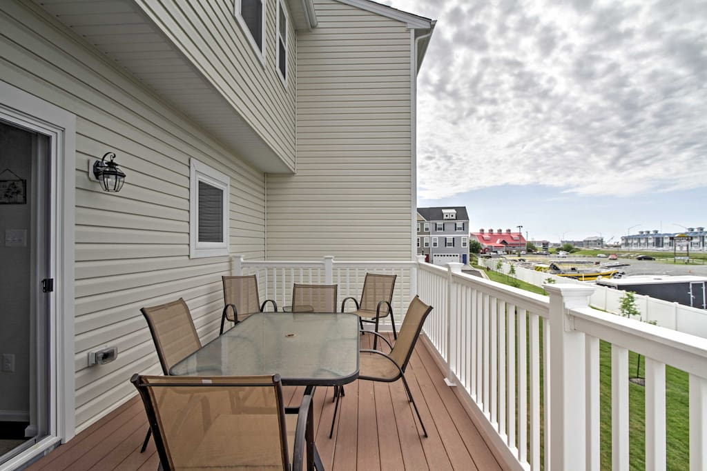 Relax on the private deck while taking in the bay views and cool breeze.