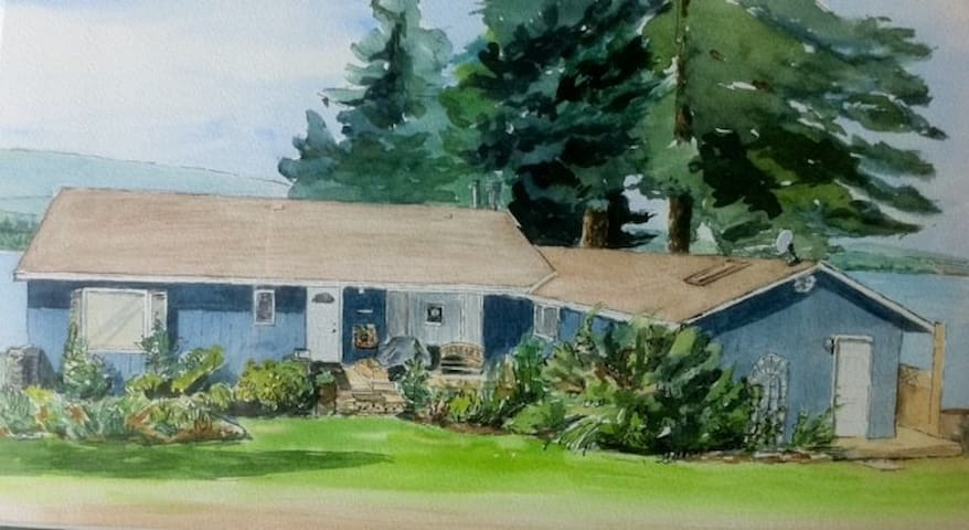 local artist's watercolour of the house