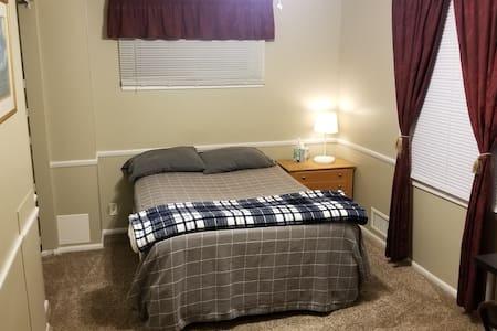 Clean & comfortable room in quiet neighborhood.