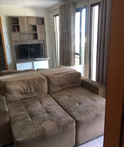 Quarto e sala de frente para ao mar - Vila Velha - Apartment