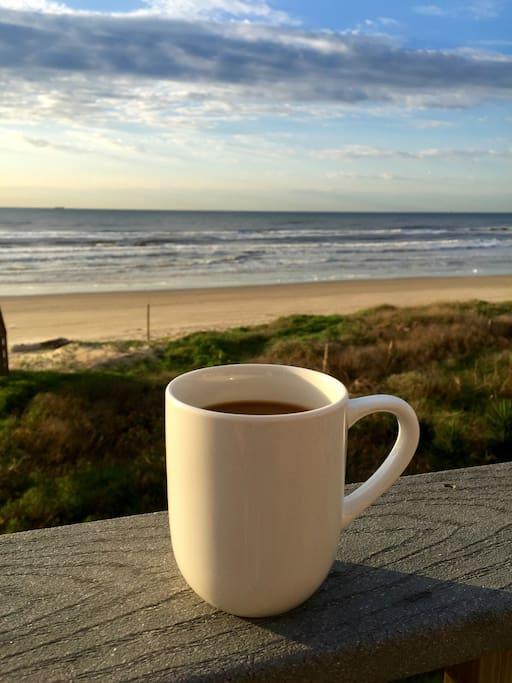 Your morning cup of coffee from the deck