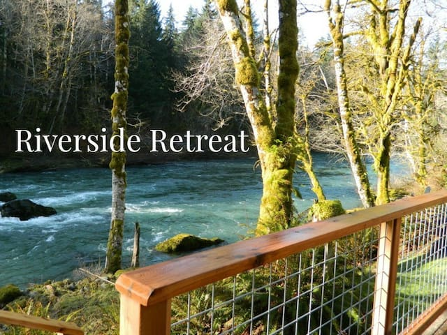 Riverside Retreat on the Sol Duc River, 15 minutes west of Lake Crescent - Port Angeles - Casa