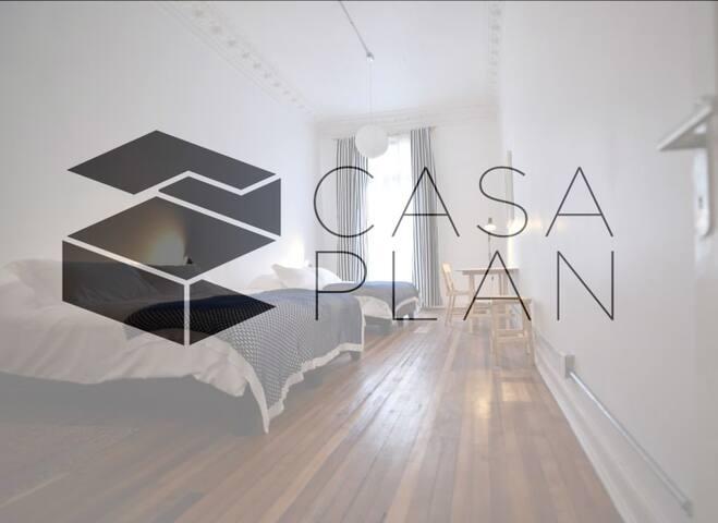 Hostal CasaPlan Habit 1 cama doble+1 cama  single