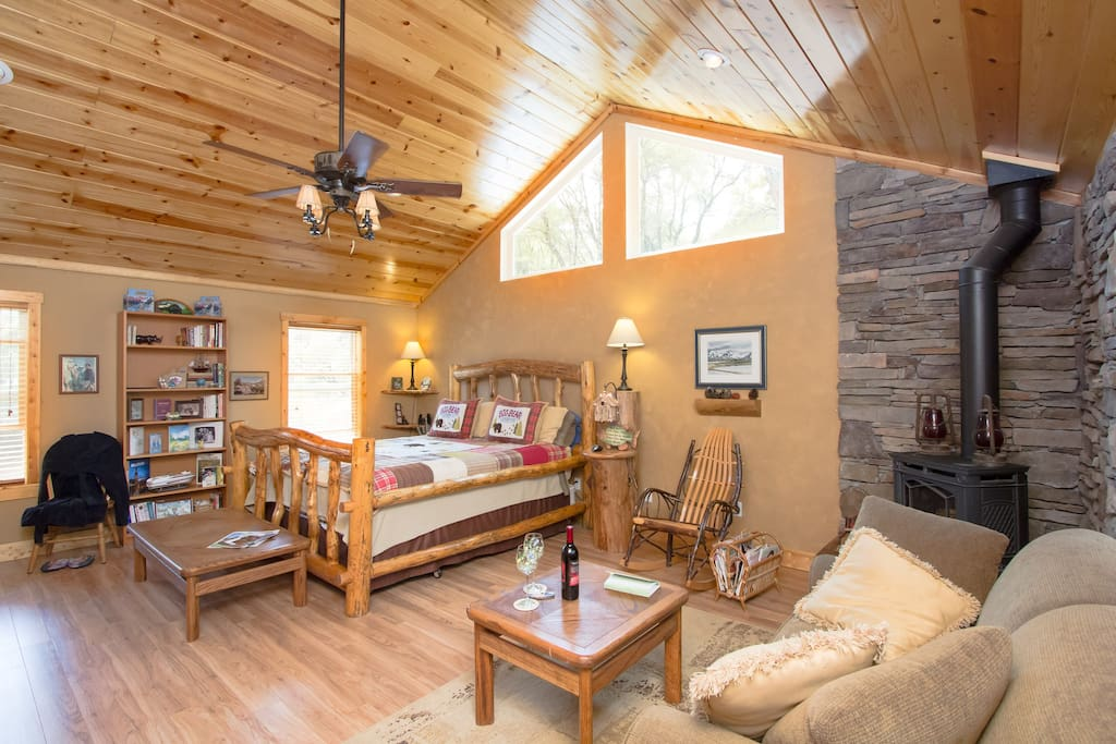 As you can see it is quite spacious with over 600 square feet of room to rejuvenate.