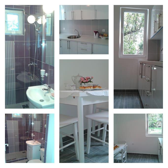 kichen and bathroom