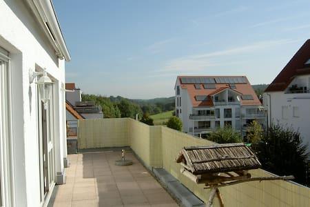 Sonnige Dachgeschoss-Wohnung mit großer Terrasse - Neuhausen auf den Fildern - 公寓