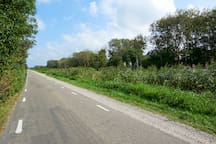 The road to Schagen and the Sea near Sint Maarten Zee or  Callantsoog