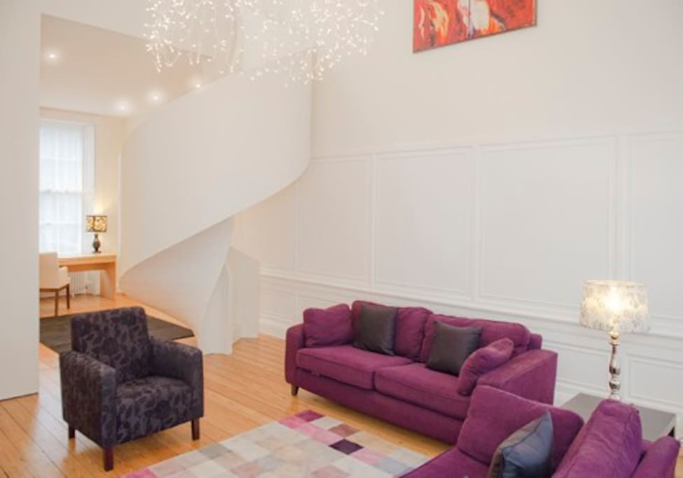 The property is bright with lots of open space and a gorgeous feature staircase