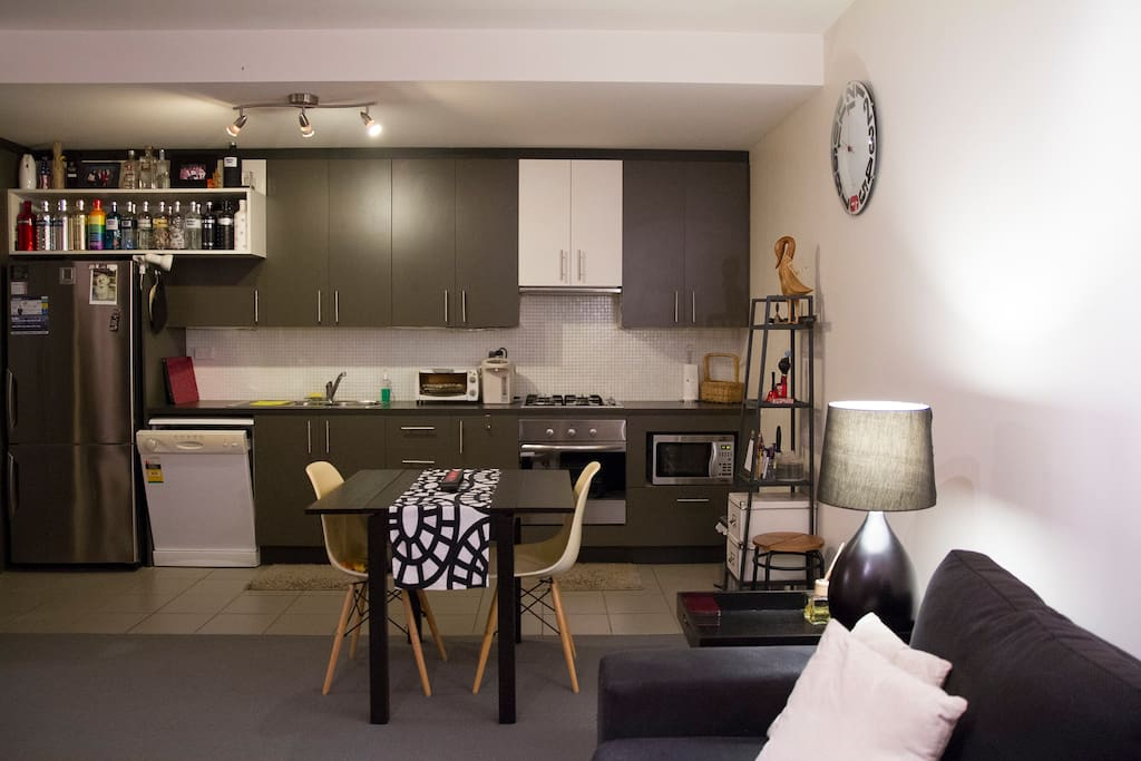 Fully equipped kitchen with fire stoves.
