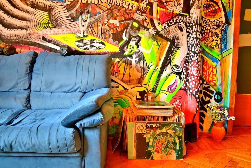 The Graffiti-painted Living Room