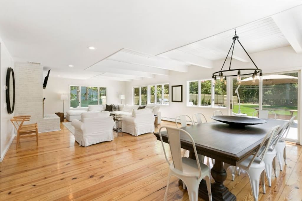 Large great room perfect for big dinners and hanging out after a long day at the beach.
