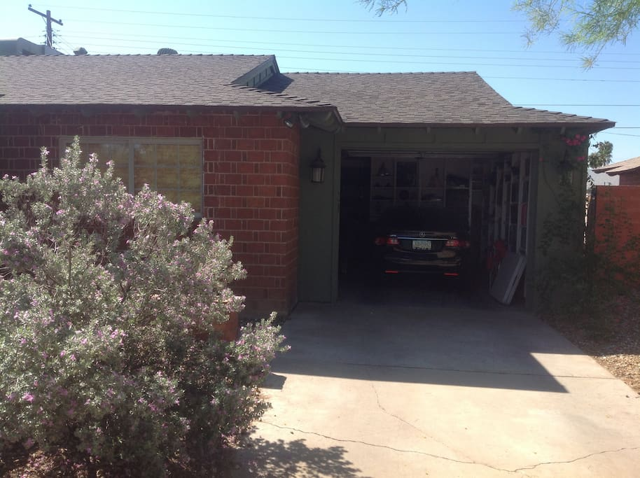 1 car garage with personal driveway