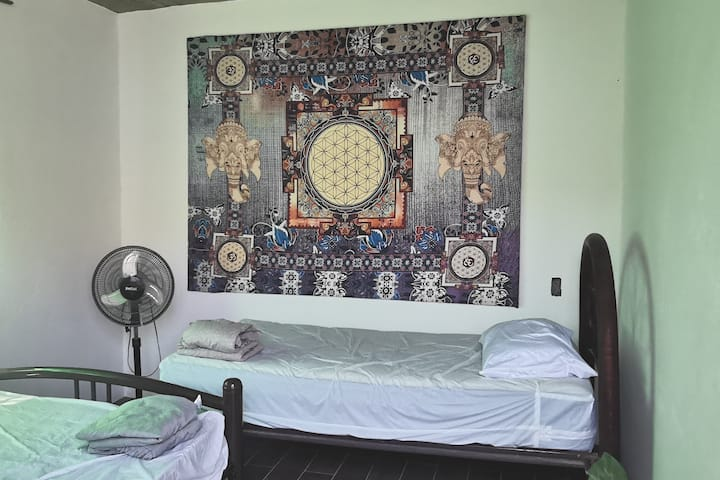 Casa Chapulín Shared room Single Bed