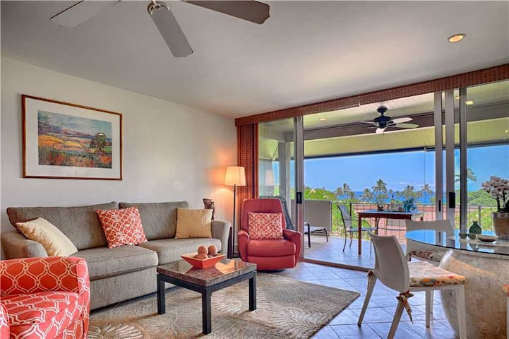 OCEAN VIEW, LUXURY STUDIO, TOP FLOOR Maui Kaanapali Vacation Rental at Maui Eldorado K206 - K206