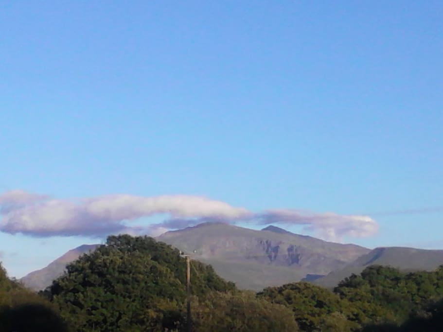View of Snowdon from the decking