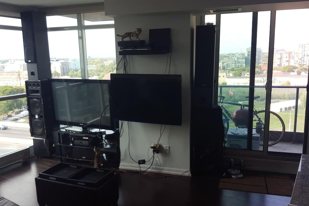 tv and entertainment setup