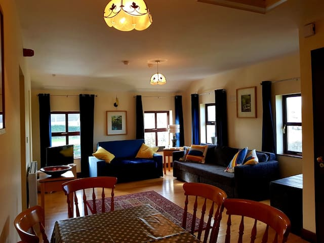 View of the living cum dining area at the apartment