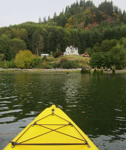 The view of the house from the river