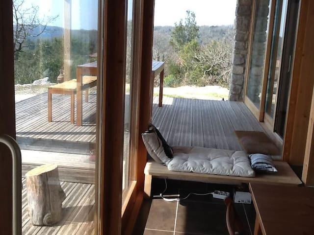 Maison bio-climatique 1km de la rivière - Labeaume - Rumah