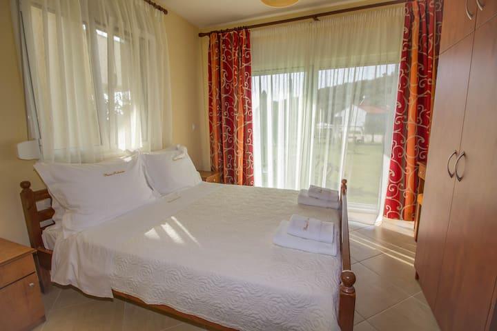 double-bedded bedroom