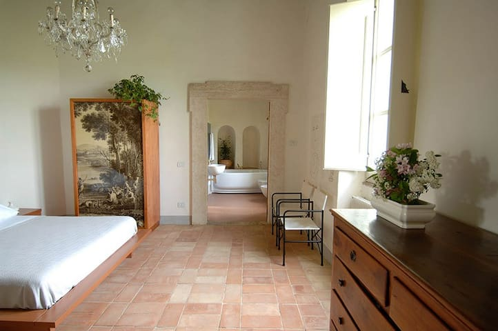 North-west bedroom and master bath