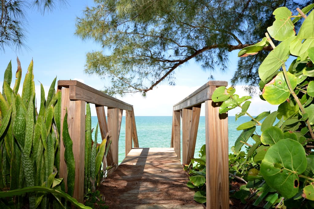 Stairs leading to our Private Beach