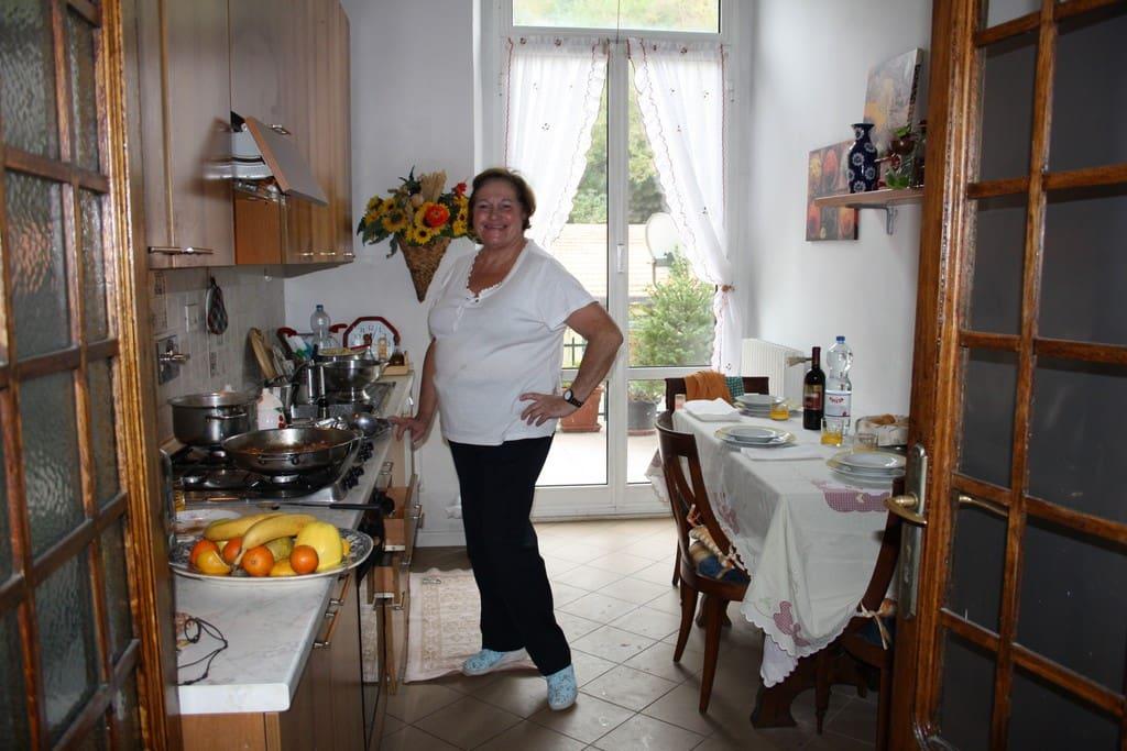 cucina e mamma cuoca(ottima)!