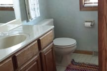 private bath and shower