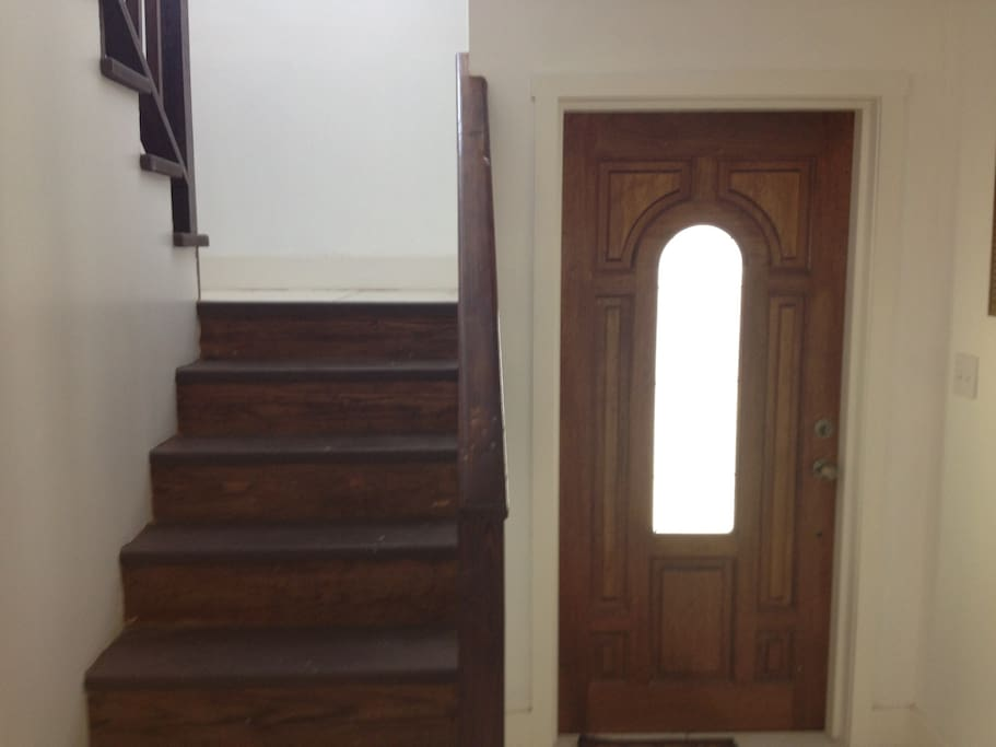 Front entrance to the house & stairway